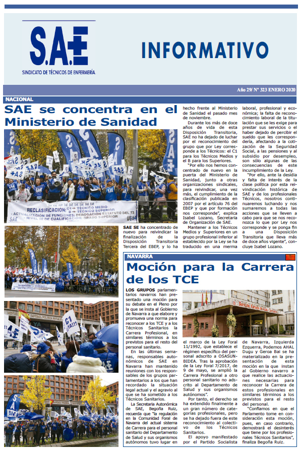 Informativo Acción Sindical SAE